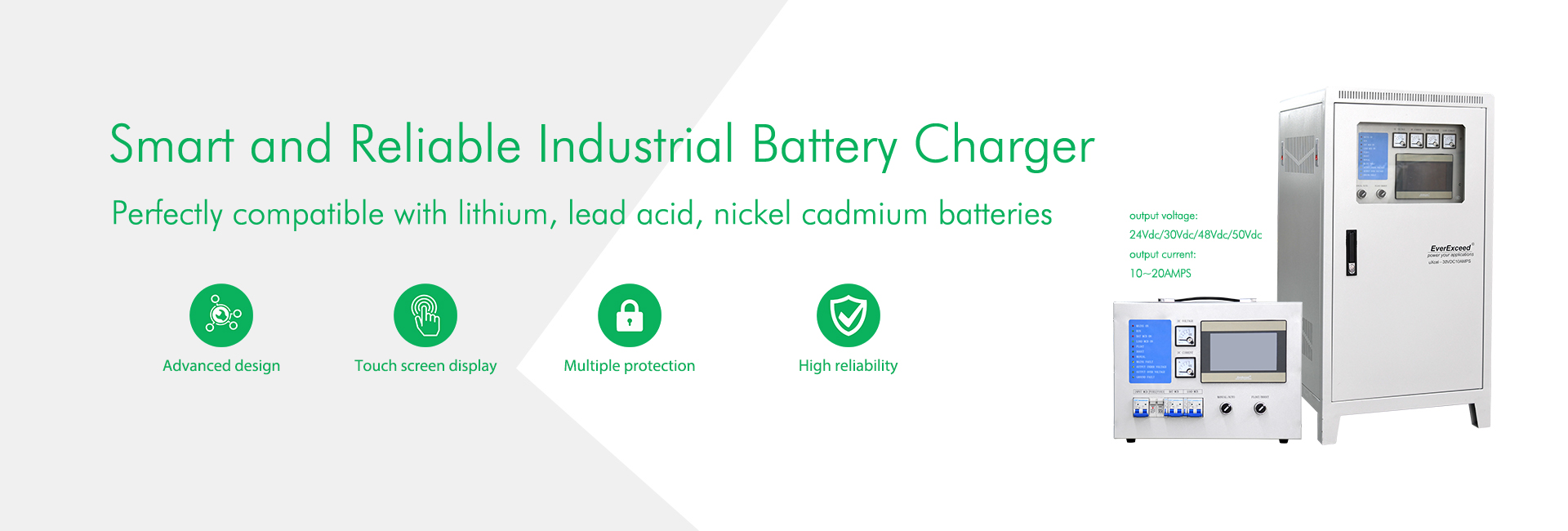 Smart and Reliable Industrial Battery Charger